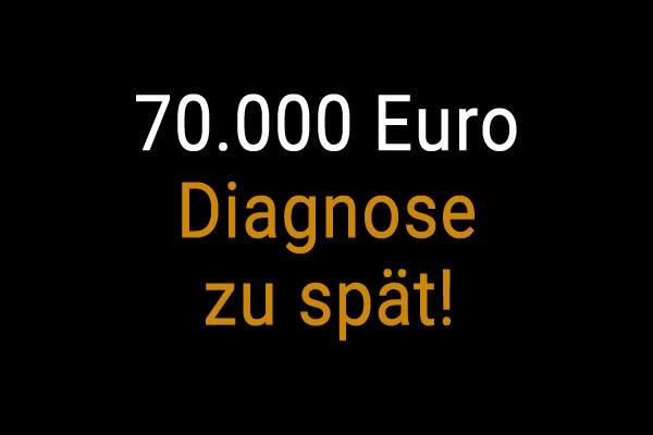 70.000 € Schmerzensgeld für den Tod der Patientin aufgrund verspäteter Diagnose einer Krebserkrankung
