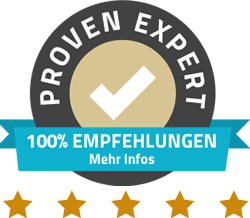 Proven Expert 5 Sterne Bewertung